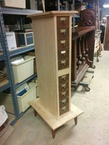 Library Drawers in Custom Cabinet in Naperville, Illinois