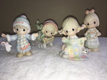 Precious Moments Christmas Winter Annual Figurines 1997, 1999, 2004, 2005 & Easter Egg in Plainfield, Illinois
