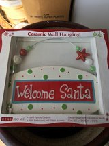 New Welcome Santa sign in Travis AFB, California