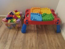 Lego table and legos in Yucca Valley, California