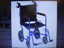 For Sale :Drive EXD19LLTBL Lightweight Expedition Transport Chair Blue in Naperville, Illinois