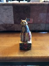 Freedom Cat wooden carving in Ramstein, Germany