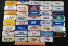 1988 Wheaties Post Cereal Prize Miniature Vanity Bike License Plate US STATES 4OB1 in Camp Pendleton, California