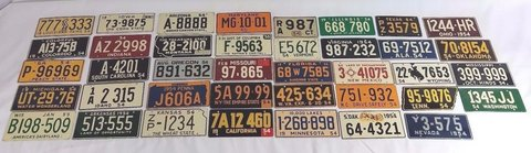 1954/55 Wheaties Post Cereal Prize Miniature Vanity Bike License Plate US STATES 4OB1 in Camp Pendleton, California