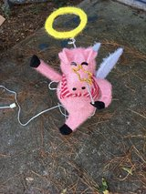 Flying Pig Christmas Decoration in Beaufort, South Carolina