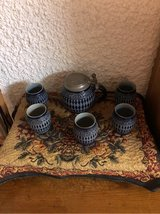 Vintage Salt-glazed cup and carafe set in Ramstein, Germany