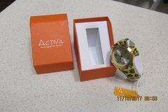 "Great New Leopard Watch By ""Activa"" In Presentation Box - Never Worn! -  REDUCED in Kingwood, Texas"