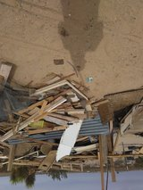 Free wood and metal in Yucca Valley, California
