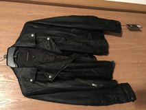 Black faux leather jacket in Plainfield, Illinois