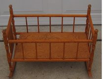Old doll cradle in Quad Cities, Iowa