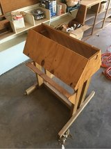 homemade saddle stand in Alamogordo, New Mexico