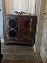 New! Wood Accent Mirrored Cabinet Nightstand Table in Fort Campbell, Kentucky