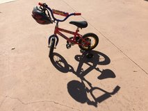 Small bicycle with helmet in Spring, Texas