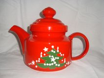 Waechtersbach Christmas Tree Wht Dot TEAPOT with LID Discontinued 1992-2012 in Orland Park, Illinois