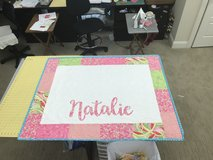 Handmade personalized baby quilt in Warner Robins, Georgia