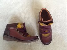 Size 9 Pikolino Womens Leather bootie Maroon and yellow in Okinawa, Japan
