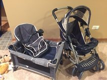 Graco baby doll pack-n-play, stroller, and car seat in Naperville, Illinois