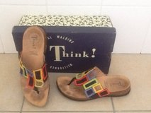 Size 8.5 Think! Multi color leather sandals (Nordstrom) in Okinawa, Japan