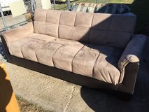 "Couch/futon 86"" long 46"" wide in Fort Riley, Kansas"