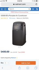 portable air condition , used once still in box practically brand new in Alamogordo, New Mexico