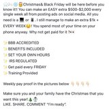 Who wants to earn a little cash or a lot of cash for the holidays???? Ask me how? in Warner Robins, Georgia