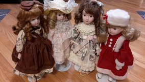 Four collectable porcelain dolls in Tinley Park, Illinois