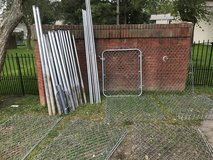 Complete Chain Link Fence with Gate and Connectors in Cherry Point, North Carolina