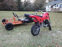 go kart for 390 and dirt bike for 290 in Cherry Point, North Carolina
