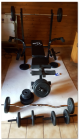 Weight set including bench in Spangdahlem, Germany