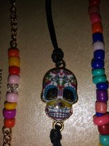 Sugar Skull trio bracelets in Spring, Texas