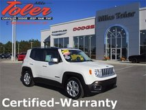 2016 Jeep Renegade Limited-Certified-Warranty-(Stk#14612a) in Cherry Point, North Carolina