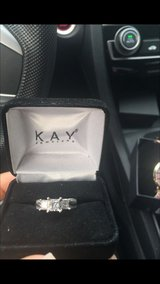 14wg 3 stone engagement ring in Travis AFB, California