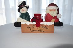Snowman and Santa Candle Holder in Cherry Point, North Carolina