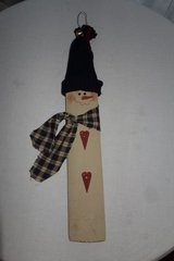 Hanging Wooden Snowman in Cherry Point, North Carolina