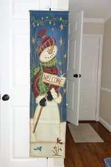 Hanging Snowman on Canvas in Cherry Point, North Carolina