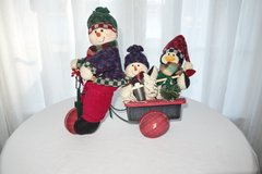 Wooden Tricycle with Snowmen in Cherry Point, North Carolina