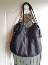 Black leather handbag brand is Deux Lux in Fort Campbell, Kentucky