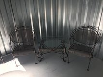 Wrought Iron Glass Top Table & Chairs in Beaufort, South Carolina