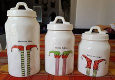 Rae Dunn 3pc Christmas Canister Set in Travis AFB, California