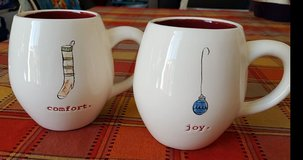 "Rae Dunn 2pc ""Comfort"" & ""Joy"" Mugs in Travis AFB, California"