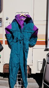 blue ski suit in Alamogordo, New Mexico
