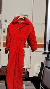 red ski suit in Alamogordo, New Mexico