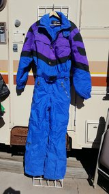 blue & purple ski suit in Alamogordo, New Mexico