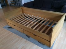 Wood Bed with drawers - 90/200 sized in Camp Pendleton, California