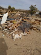 Free wood in Yucca Valley, California