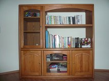 Oak Bookshelf/Entertainment Center in Quantico, Virginia