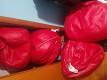 3 red bean bags chairs in Hopkinsville, Kentucky