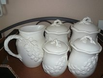 8-pc Porcelain Canister/Serving Set in Quantico, Virginia
