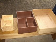 wooden storage boxes in Ramstein, Germany