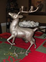 """HEAVY SILVER PLATED """"CHRISTMAS REINDEER"""" 17"""" TALL OVER 10 POUNDS in Camp Lejeune, North Carolina"""